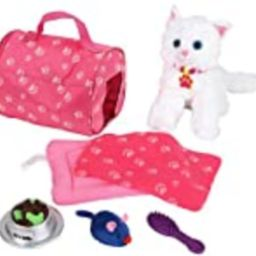Click N' Play 8 Piece Doll Kitten Set and Accessories. Perfect for 18 inch American Girl Dolls | Amazon (US)