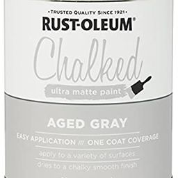 Rust-Oleum, Aged Gray 285143 Ultra Matte Interior Chalked Paint 30 oz, 30oz Can   Amazon (US)