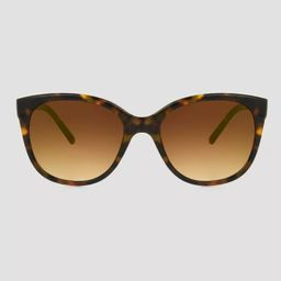 Women's Tortoise Shell Print Square Sunglasses - A New Day™ Brown   Target