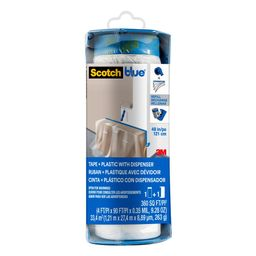 ScotchBlue 4 ft. x 90 ft. Clear Pre-Taped Painter's Plastic Sheet-PTD2093EL-48 - The Home Depot   The Home Depot