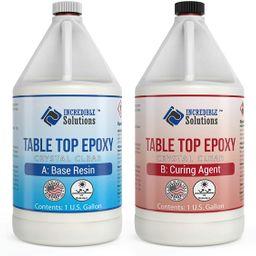Table Top & Bar Top Epoxy Resin, Ultra Clear UV Resistant Finish, 1-Gallon Kit, Self Leveling, Pe...   Amazon (US)