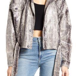 Women's Blanknyc Faux Snakeskin Jacket, Size Medium - Grey   Nordstrom