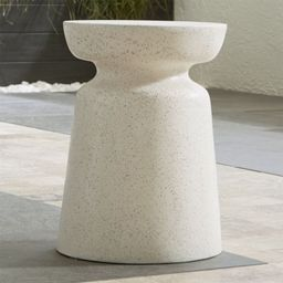 Crest Side Table-Stool + Reviews   Crate and Barrel   Crate & Barrel
