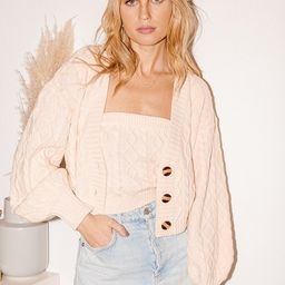 Double Trouble Cream Cable Knit Tube Top and Cardigan Set | Lulus (US)