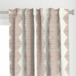 Rust Chevron Curtain Panel - Mudcloth Diamond By Littlearrowdecor Earth Tones Weathered Look Custom    Etsy (US)