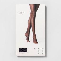 Women's Clean Herringbone Tights - A New Day™ Black | Target
