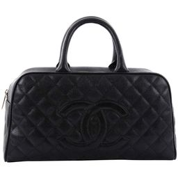 Chanel Timeless CC Bowler Bag Quilted Caviar Large   1stDibs
