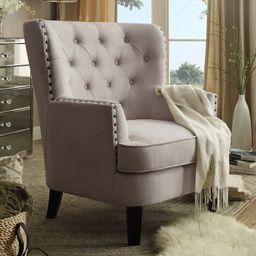"Ivo 30"" W Tufted Wingback Chair | Wayfair North America"