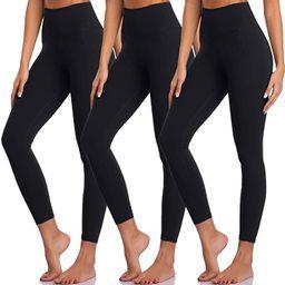 High Waisted Leggings for Women Yoga Tummy Control Workout Leggings Pack Soft Running Exercise Sp... | Amazon (US)