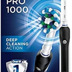 Oral-B 1000 CrossAction Electric Toothbrush, Black, Powered by Braun   Amazon (US)