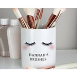 Personalised Eyelashes Ceramic Storage Pot Valentines Gift for Her Make Up Brushes Holder Gift for H | Etsy (US)