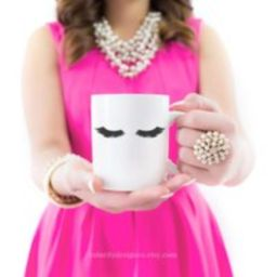 Eyelashes Mug, Lashes Lips & Makeup Bridesmaid Gift, Mug Girl Mug, Mom Brush Cup, Coffee Gift | Etsy (US)