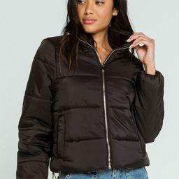 FULL TILT Essentials Nylon Womens Black Puffer Jacket | Tillys