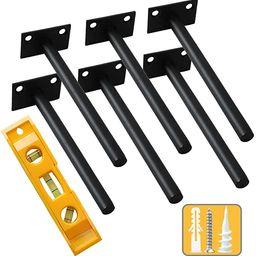 Floating Shelf Bracket 8 inch Shelf Brackets Heavy Duty Blind Shelf Supports Brackets 6 PCS Hidde...   Amazon (US)