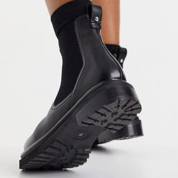 Whistles chunky leather chelsea boots in black | ASOS (Global)