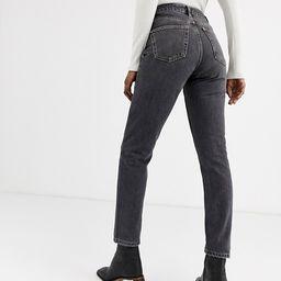 Topshop mom jeans in washed black | ASOS (Global)