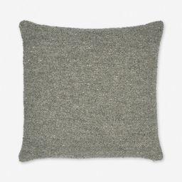 Manon Linen Boucle Pillow, Moss | Lulu and Georgia