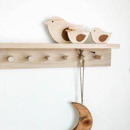 Wall Coat Rack with shelf, Wooden peg rack, Wooden peg rail, Towel rack, Hat rack, | Etsy (US)
