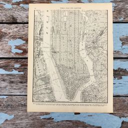 Antique Map of Lower Manhattan. New York City Map. NYC 1937 Historical Print, Lithograph. 79 Yr O... | Etsy (US)