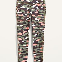 High-Waisted Elevate Cargo 7/8-Length Compression Leggings for Women | Old Navy (US)