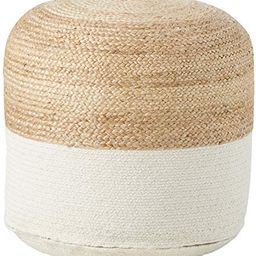 Signature Design by Ashley Sweed Valley Pouf-Comfortable Pouf & Ottoman-Casual-Natural/White | Amazon (US)