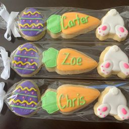 Personalize Easter Cookie Sleeves   Place Settings   Office gifts   Easter Basket gifts     Etsy (US)