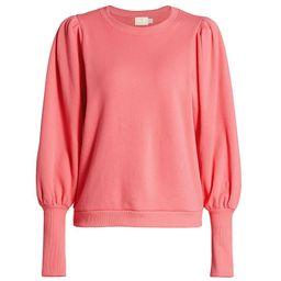 Nation LTD Women's Bethany Puff-Sleeve Sweatshirt - Flamingo - Size XS   Saks Fifth Avenue