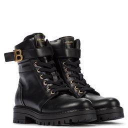 B Buckle leather boots   Mytheresa (US)