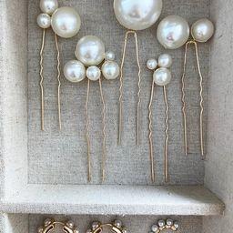 Pearl Hair Pins, Wedding Hair Clips, Pearl Pins, Wedding Style, Bridal Hair Pins, Barrettes, Brid... | Etsy (US)