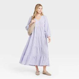 Women's Balloon Long Sleeve Tiered Dress - Universal Thread™   Target