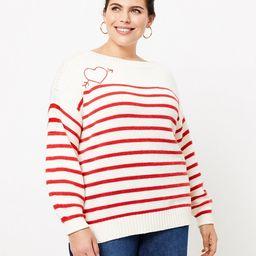 LOFT Plus Cupid Boatneck Sweater | LOFT