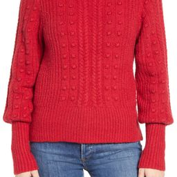 Cable & Bobble Turtleneck Sweater | Nordstrom