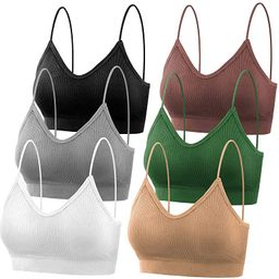 PAXCOO Bras for Women Pack of 6, Bralettes for Women Padded, Sports Bras for Women | Amazon (US)