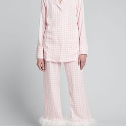 Party Pajama Set w/ Feathers | Bergdorf Goodman