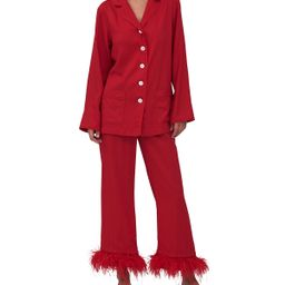 Party Pajama Set with Feathers | Neiman Marcus