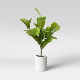 """32"""" x 18"""" Artificial Fiddle Leaf Plant in Pot - Threshold™ 