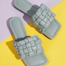 Square Toe Braided Slide Sandals | SHEIN