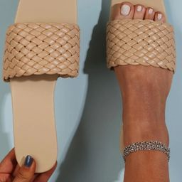 Solid Braided Slide Sandals | SHEIN