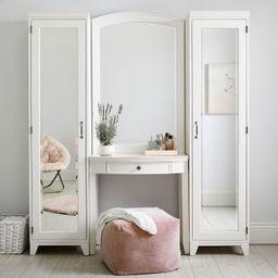 Hampton Vanity Bookcase with Mirror   Pottery Barn Teen