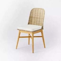 Juniper Woven Dining Chair with Cushion Natural - Threshold™ designed with Studio McGee   Target
