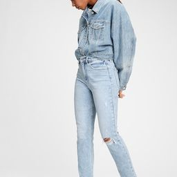 High Rise Destructed Cigarette Jeans | Gap (US)
