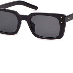 Retro Vintage Square Women Sunglasses Small Plastic Frame with Rivet | Amazon (US)