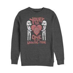 Men's Star Wars Valentine Looking For Stormtrooper Sweatshirt   Target