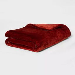 """55"""" x 80"""" Microplush Weighted Blanket with Removable Cover - Threshold™   Target"""