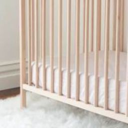Organic Cotton Crib Sheet   If Only Home