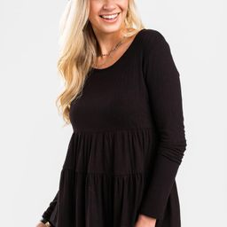 Janette Babydoll Tiered Blouse | Francesca's Collections