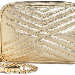 INC International Concepts Women's Glam Metallic Quilted Camera Crossbody Bag with Chain Straps, ... | Amazon (US)