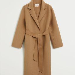 Handmade wool coat | MANGO (US)