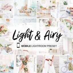 MOBILE Lightroom Presets Light & Airy Bright Soft Photo   Etsy   Etsy (US)