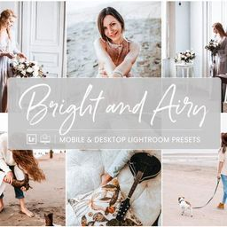 10 Mobile Lightroom Presets Bright and Airy presets Clean   Etsy   Etsy (US)